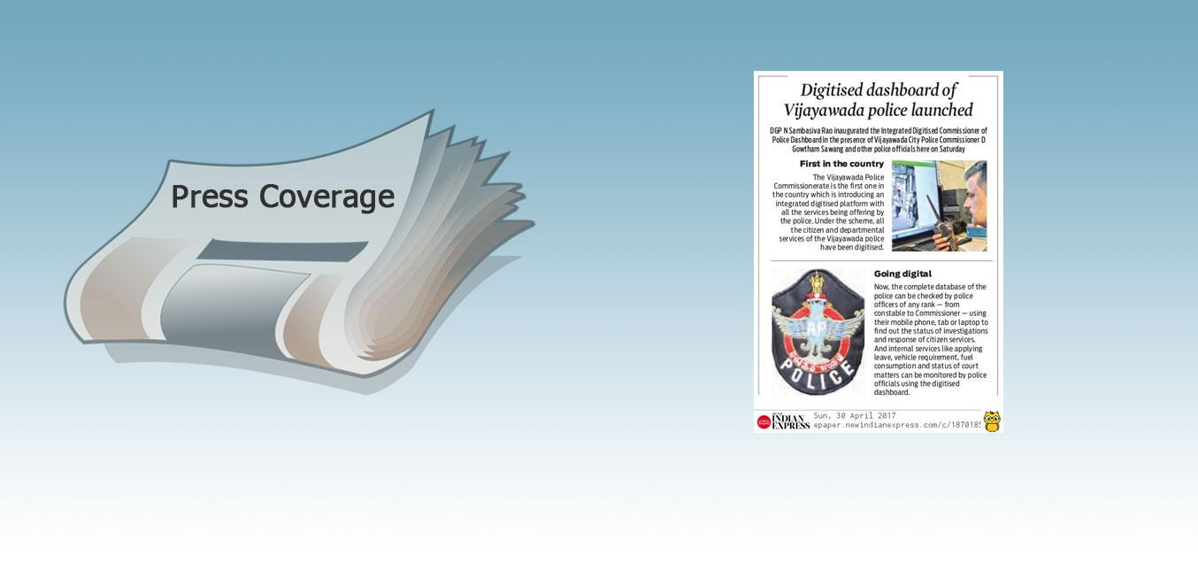 Press: eRaksha launch in Vijayawada - The Indian Express