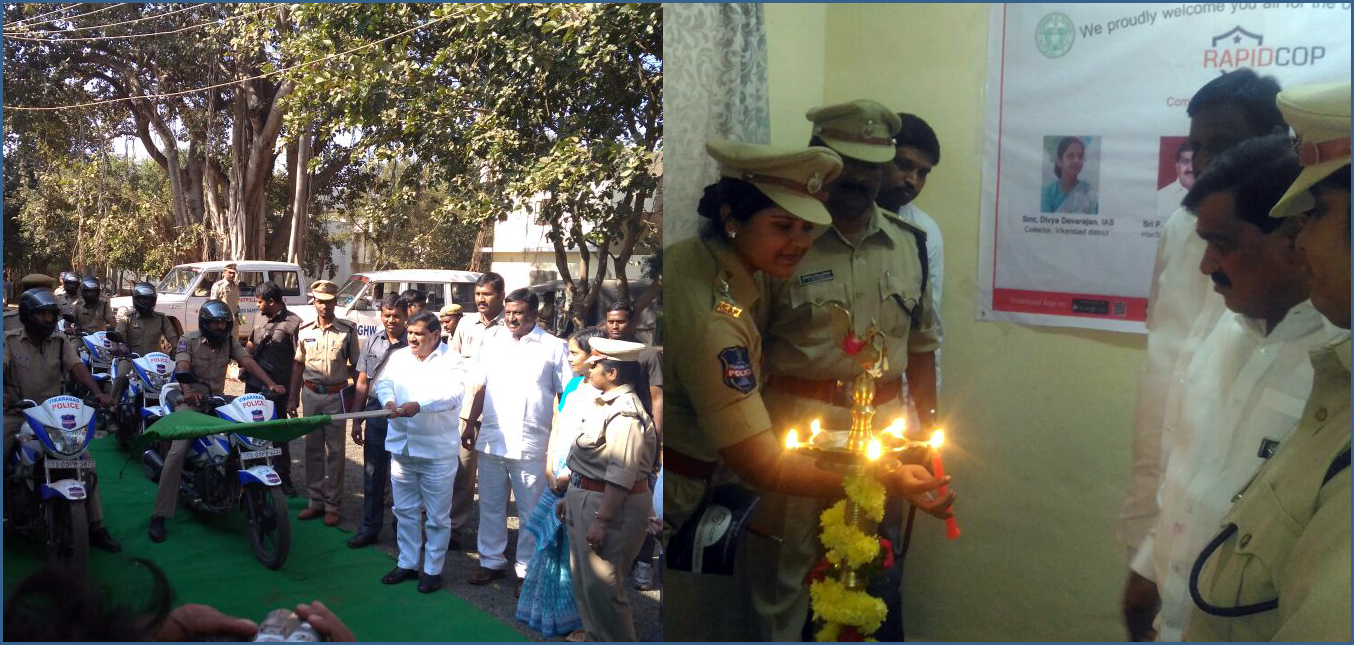 Gallery: Launch of RapidCop at Vikarabad, Telangana